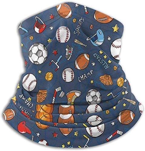 Greatreme Guantes de béisbol y fútbol campeón unisex cara ma-sk bandanas multifuncional bufanda cuello polaina pasamontañas para deportes al aire libre