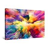 Startonight Cuadro Moderno en Lienzo - Nubes de Todos los Colores - Pintura para Salon Decoración Grande 80 x 120 cm