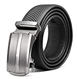 BOSS Aron Uomini Cintura in pelle, 35mm Regolabile Dente di Arresto Automatico Fibbia Cintura, Rifinisci per Adattarsi!TB4