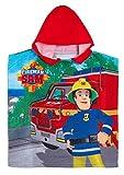 Lora Dora Poncho à capuche Sam pompier Serviette de plage d'été - Rouge - Taille Unique