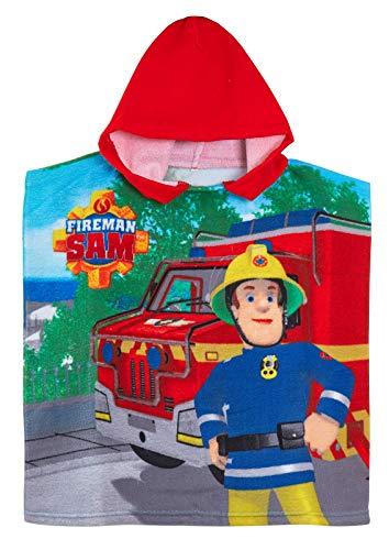 Lora Dora Feuerwehrmann Sam Kapuzenponcho Sommer Strandtuch Gr. One size, Feuerwehrmann Sam