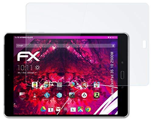 atFolix Glasfolie kompatibel mit Asus ZenPad 3S 10 Z500M Panzerfolie, 9H Hybrid-Glass FX Schutzpanzer Folie