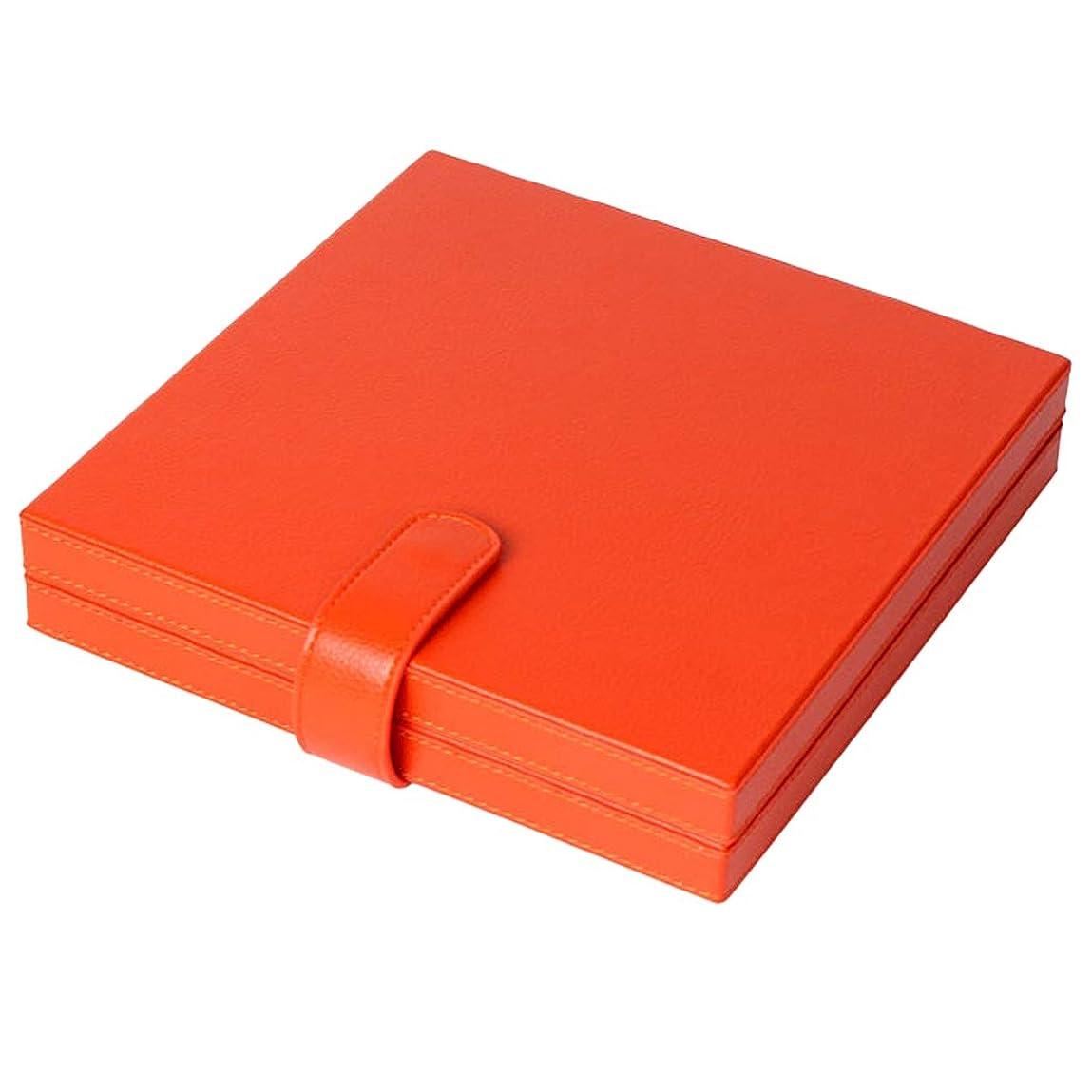 写真を描く悪性の軸DYNWAVE 全2色 シザーケース ヘアカット ツールホルダー 大容量収納ケース レザー製 シザーポーチ - オレンジ
