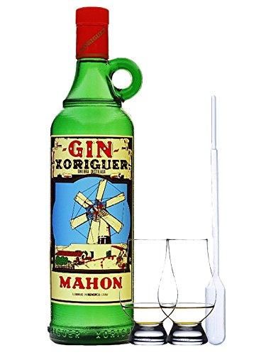 Gin Xoriguer Mahon Gin 0,7 Liter + 2 Glencairn Gläser und Einwegpipette