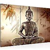Runa Art Buddha Bild Wandbilder Wohnzimmer XXL Beige Braun