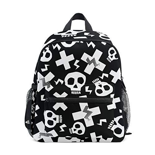 Mochila Infantil Grunge Funky Skulls Kindergarten Preescolar Bolsa para niñas de niños pequeños
