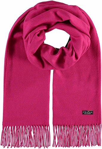 FRAAS Damen Schal aus Cashmink - Made in Germany - Web-Schal weicher als Kaschmir - Stola in Uni-Farben - stilvoller Fransen-Schal - Größe 52 x 200 cm Pink