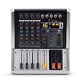 Mezclador de audio EYK EA40 de 4 canales con 16 efectos digitales.48V de potencia fontom con conector USB y bluetooth.