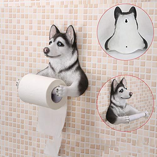 AHAI YU Kreative Toilettenpapierhalter Hund Bad Wc Bad Toilettenpapier Box Wc Tablett Handtuch Box Halterung Papierrolle Rohr Rack (Color : Husky)