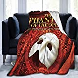 919 The Ph-Antom of The Op-Era Fleece Throw Blanket for Couch Super Soft Cozy Microfiber Couch Blanket All Season 60'X50'