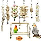 GingerUP 7 Unidades Juguetes para Pájaros Colorful Columpio para Loros Accesorios Jaula...