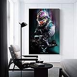 AMtxkj Poster Lewis Hamilton 50x75cm