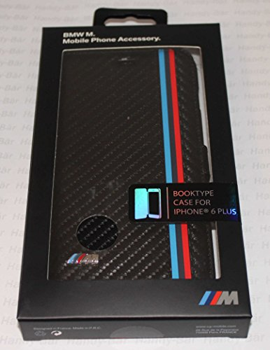 BMW BMFLHP6LMC M Collection Book Case for iPhone 6 Plus/6S Plus - Carbon Effect