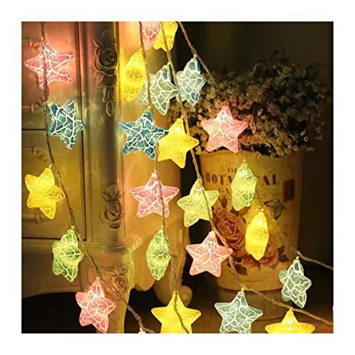 MUZIWENJU 20.10 LED feenhafte Stern-Schnur-Licht 1,5 m 3 m Led Garland Lichter Weihnachten Laterne im Freien Garten-Hochzeits-Dekoration Urlaub (Farbe : Multicolor, Größe : 3m 20 (Plug in))
