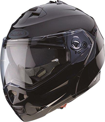 Caberg 1488298 Duke - Casco con tapa frontal para moto, color plateado