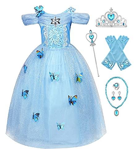 Eleasica Robe de Princesse Elsa Fille Reines des Neiges...