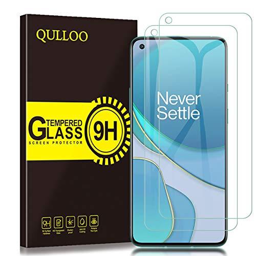 QULLOO Panzerglas für Oneplus 8T / OnePlus Nord CE 5G, [2 Stück ] 9H Gehärtetes Schutzfolie Anti-Kratzer Glas Folie Bildschirmschutzfolie für Oneplus 8T / OnePlus Nord CE 5G