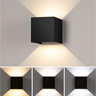 Houkiper Aplique Pared Interior Lámpara de Pared de Inducción IP56 Impermeable, Blanco Cálido 6000K Ideal para Salón Pasillo Escalera Dormitorio Baño