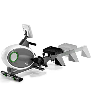 Rowing Machine,Sunny Health Fitness Magnetic Rowing Machine with LCD Display, Three-screen Six-function Exercise Mon