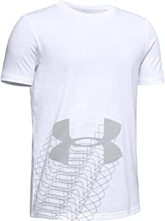 Under Armour Boy's Linear Logo Short Sleeve T-Shirt