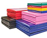 IncStores Premium Folding Mats 2' Featuring 4 Sided Hook and Loop - Crosslink Polyethylene Foam encased with 18 oz Vinyl Fabric for Gymnastics, Tumbling, Cheerleading and Wrestling