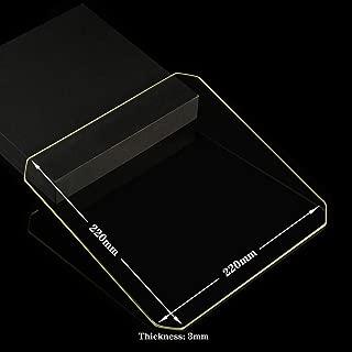 Polished Chamfer Borosilicate Glass Build Plate/Bed 220mm x 220mm x 3mm Glass Bed for MK2/MK2A,Wanhao Duplicator i3, Anet A8, Anet A6, MP Maker Select Reprap 3D Printer (220x220x3mm Chamfer)