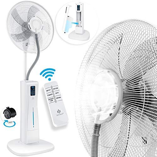 KESSER® Stand-Ventilator Frosty mit Wasser Ultraschall-Sprühnebel Wasserkühlung, inkl. Fernbedienung Timer-Funktion, Luftbefeuchter Leise, Nebelfunktion, Raumbefeuchter, Standventilator