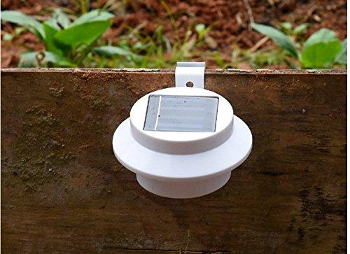TFXWERWS 3 LED solarbetriebene Energiesparlampe für den Außenbereich (weiß)