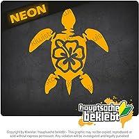 タートルハワイ Turtle Hawaii 11cm x 10cm 15色 - ネオン+クロム! ステッカービニールオートバイ