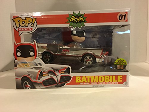DC Comics POP! Rides Vinyl Vehicle with Figure ?66 Chrome Batmobile SDCC 2016 Exclusive 12 cm Funko Mini figures