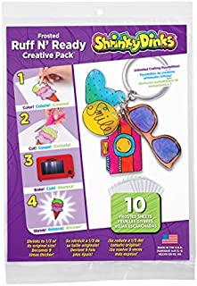 Shrinky Dinks Creative Pack 10 Sheets Frosted Ruff N Ready
