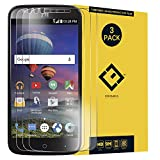 CENTAURUS Replacement for Glass Screen Protector,(3 Packs) Anti-Glare Hardness Shatter Proof Tempered Glass Protective Film ZTE Zmax Champ Z917VL Z917 / Grand Z916BL / Grand X3 / Warp 7