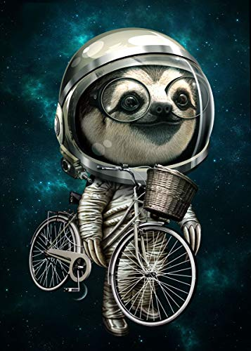 Funny Sloth Poster Astronaut Sloth With My Bike Along Galaxy Poster Sloth Lover Gift | Home Decor Vertical Poster | Funny Gift For Home Decor Poster | Full Size 12x18 16x24 24x36 27x40 |