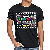 style3 Televisione Monoscopio T-Shirt da Uomo Sheldon televisivo, T-Shirt Hauptfarbe...