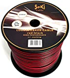Manax - Cable para altavoz (2 x 0,75 mm²), color rojo y negro