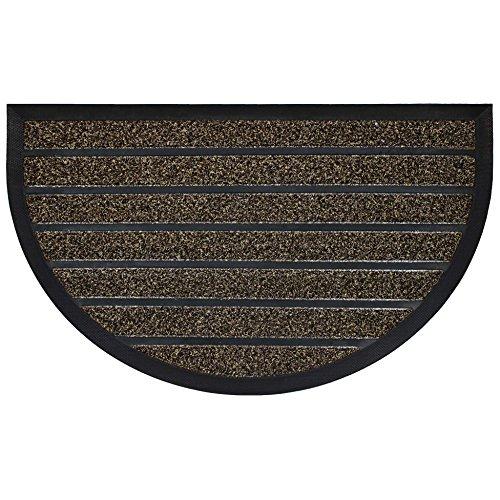 douceur d'intérieur tapis d'entree demi-lune 45x75 cm pvc grattoir marco choco