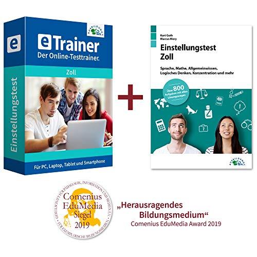 Einstellungstest Zoll Kombipaket: Online-Testtrainer + Buch | Über 2.100 Aufgaben mit allen Lösungswegen | Sprache, Mathe, Allgemeinwissen, Logik und mehr | Mittlerer Dienst und gehobener Dienst