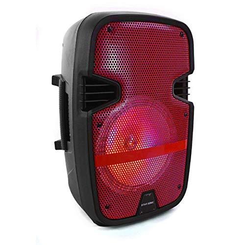 velikka Bafles Amplificados Bocina Bluetooth 8 Pulgadas Recargable Larga Duracion Star Sonic microfono Control