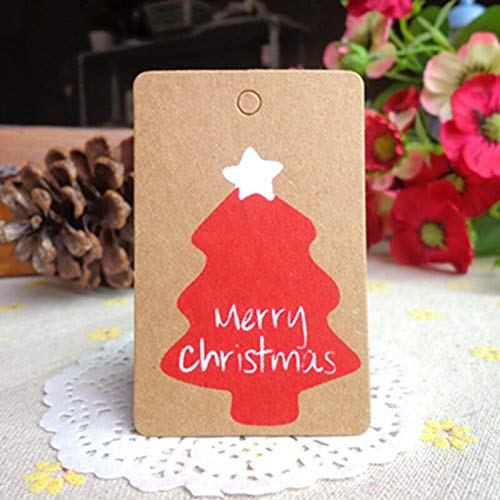 Best Quality - Pendant & Drop Ornaments - 20pcs merry christmas tags xmas party gift label craft santa claus snowflake kraft paper tag christmas ornament festival supply - by Stephanie - 1 PCs