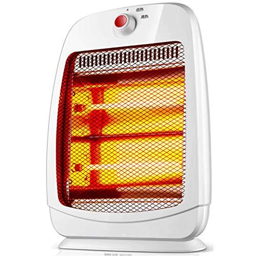 LI HAO SHOP draagbare ventilatorkachel, staande verwarming, kleine oven, mini-warmtestraler voor kwartsbuisverwarming, 800 W, wit, 31 x 17 x 45 cm
