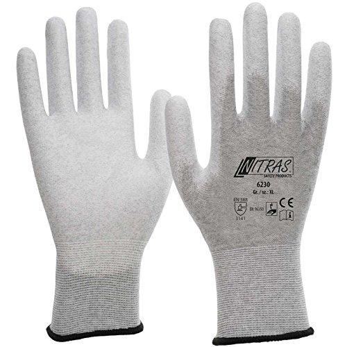 Nitras 6230 ESD-Handschuhe - antistatisch und Touchscreen-fähig, Größe:Größe 9/XL