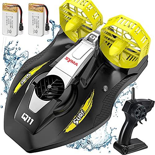 SYMA ferngesteuertes Boot RC Boote für Pool Seen Q11 Speed Boat Schiff mit 2.4GHz Fernbedienung Spielzeug Land und Wasser Starker Kraft Geschenkfür Kinder ab 8 Jahre