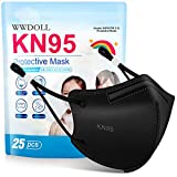 Kids KN95 Face Mask - 25 Pack WWDOLL 5-Layer Disposable Kids Masks with Adjustable...