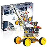 Iron Commander Erector Set - Educational Building Toys for Kids Ages 8 and up w/ 235 Pieces, Building Blocks STEM Toys - Metal Crane Building Model with Metal Beams and Screws