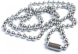 SODIAL(R), collana antiruggine, in acciaio inox, con perline in metallo