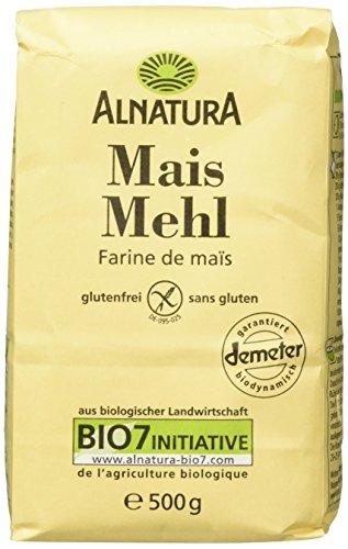 Alnatura Demeter Bio Maismehl, glutenfrei, 6er Pack (6 x 500 g)