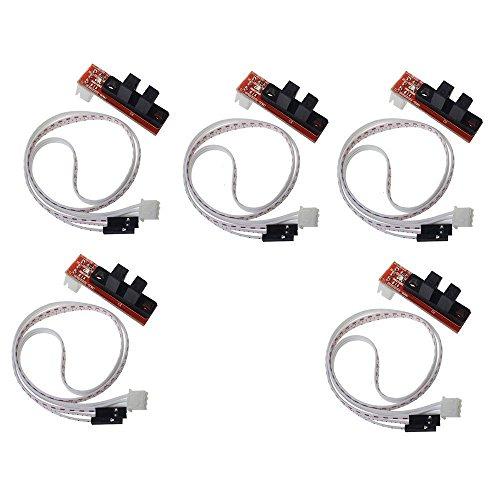 DollaTek Interruptor de límite óptico mecánico de la impresora del CNC 3D Endstop con cable para rampas 1.4 Makerbot Prusa Mendel RepRap (paquete de 5 piezas)