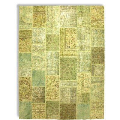 Handgeweven tapijt vintage in groen Rug Maat: 200 x 300cm
