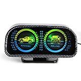 Auto Car Compass Adjustable Balance Meter Gauges Slope Indicator Land Meter Pitching & Rolling Balancing Instrument Tachometers