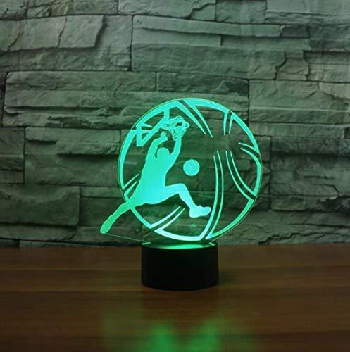 Luz De Noche Ilusión 3D 7 Colores Led Jugar Baloncesto Acrílico Mesa Usb Escritorio Dormitorio Mesita De Noche Atmósfera De Sueño Colorido Regalo Creativo